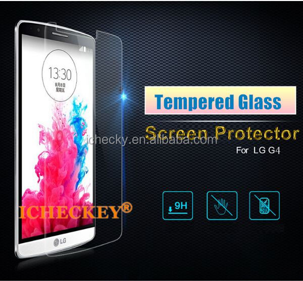 Best Japan Asahi Glass with Customized Design Logo Screen Guard For LG G4 Tempered Glass Film