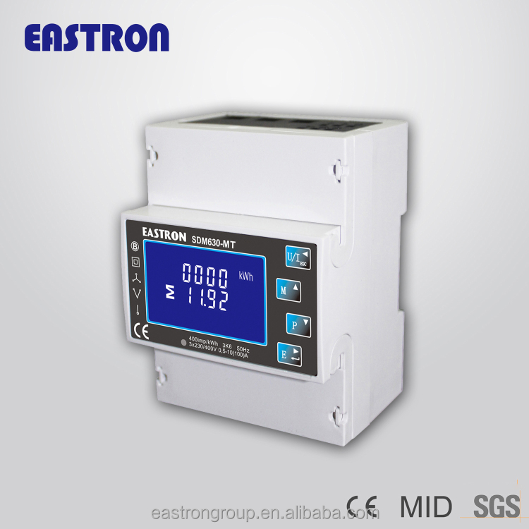4 Tariff RTC 0.5~10(100)A ,SDM630-MT Smart Three phase multi tariff energy meter MID approved