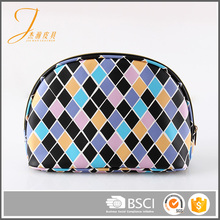 Semi-circle Colorful PU Cosmetic Bag