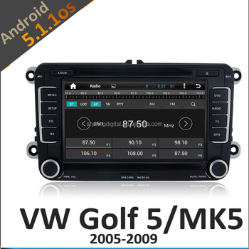 volkswagen golf 5 radio with android 5.1.1OS 3G WIFI