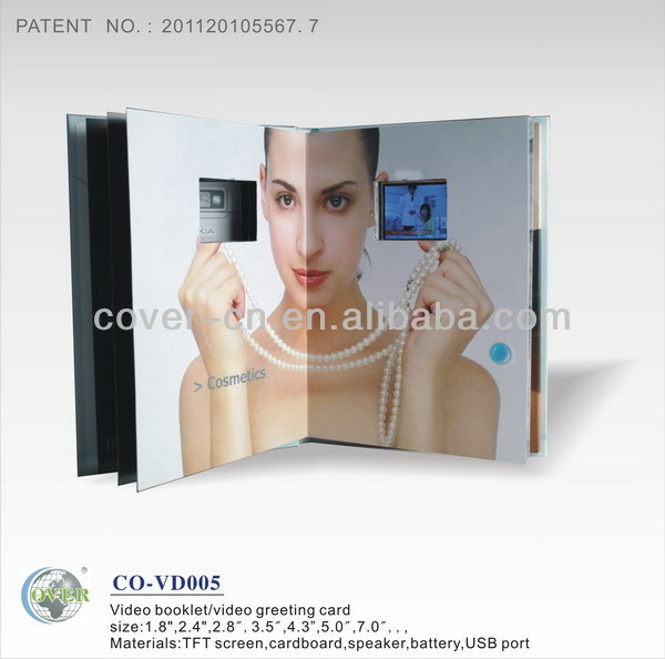 Promotional advertising MP4 video player card for gift item