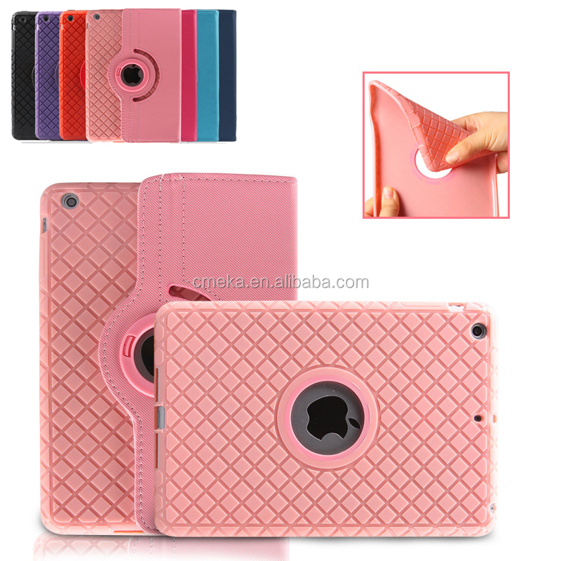 Newest 360 Case For iPad 2 3 4 5 6 Mini 1 2 3 4 360 Degree Rotating Smart Stand Leather TPU Silicone Cover