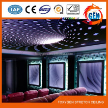 wedding hall ,restaurant and shopping center ceiling decoration PVC Stretch ceiling