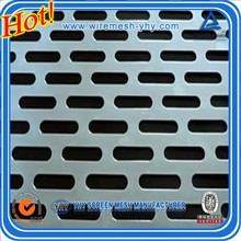Louver perforated metal mesh used for absorptive acoustic noise barrier wall