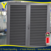 AS2047 windows and doors used building materials window shutters/ aluminum sunshade louver