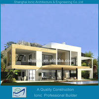 luxury house;luxuy steel structure villa