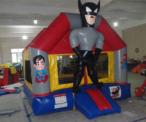 customs design batman inflatable jumping castle for sale/PVC material bouncer inflatable toy for kids