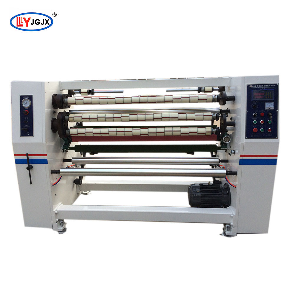 LY-210 water based glue opp tape slitter/plastic film roll slitting machine/gum tape making machine