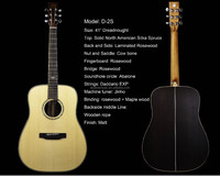 "41"" Dreadnought cut way solid spruce acoustic guitar"