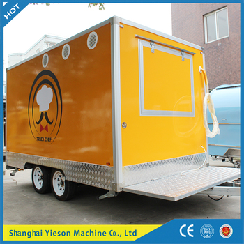 Resistant,Yieson 3 selling windows Fiber Glass fast food truck mobile kitchen/mobile food truck / food truck croissant equipment