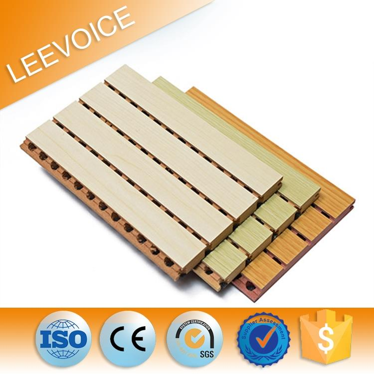 Mdf Carved Board Interior Acoustic Panel wood material For Auditorium