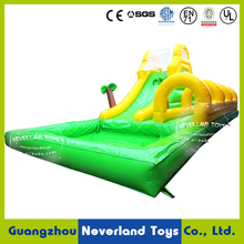 High Quality NEVERLAND TOYS Giant Inflatable Water Slide For Adult And Kids Coconut Tree Inflatable Water Slide For Sale