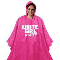 Hooded Plastic Logo Disposable Purple Rain Poncho