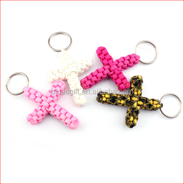 2014 cross handmade survival paracord keychain