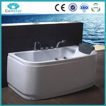 Indoor triangle shaped medical air bubble ozone massage bathtubs with touch screen panel