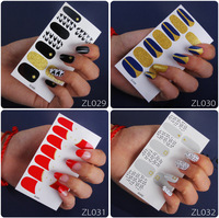 Korea hot Sale 3d simple nail Polish beautiful wraps Full Cover Type gel Nail Stickers