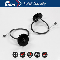 ONTIME BT3005 (8.2M) Eas wire rope lanyard products high quality security bottle tag with 480mm Metal Lanyard Cable With Ball