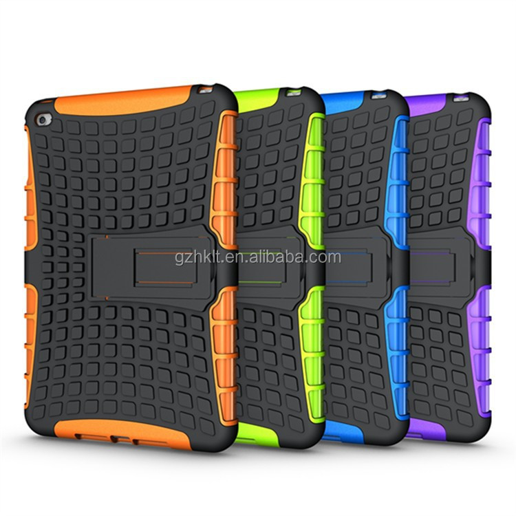 2015 Newfashioned TPU&PC 2 in 1 combo armor case for iPad mini 4 stand cover