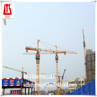 Tower crane manufacturer for export to more than 50 countries QTZ63 6 Tons tower crane in Algeria