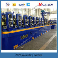 Automatic Straight Seam High Frequency Welded Pipe Making Machine Price