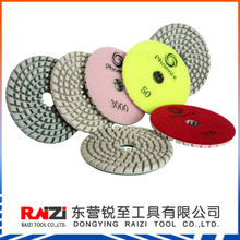 4 inch flexible concrete counter top and surface dry polishing pads with 5mm/concrete counter top dry polishing pads