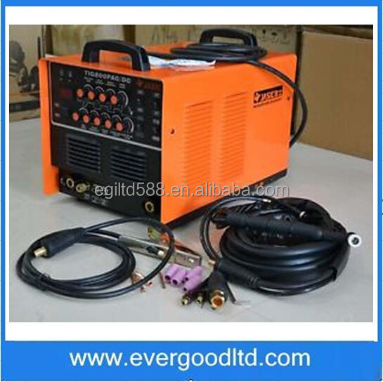 TIG200P High Quality JASIC WSE-200P AC/DC TIG/MMA Square Wave Pulse Inverter Welder Aluminium WP-26 Air Cooled Torch 220V JS013