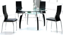 modern cheap dining table set with PU foam chairs