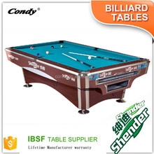 Shender high quality tournament fire-proof cushion 9ft pool table for sale pool table