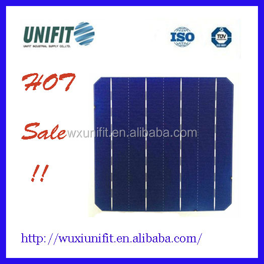 Monocrystalline Silicon Material and 156x156mm Size solar cell scrap