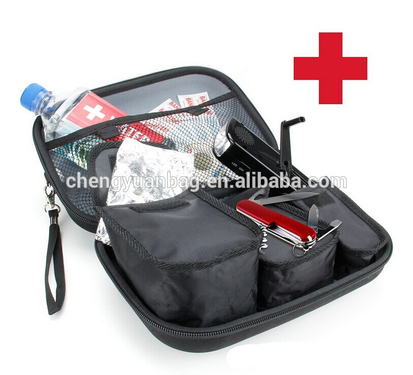 Outdoor Camping Travel Sport Survival Pack Emergency First Aid Kit Household Car Healthy Care Equipment Bag Black