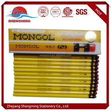 Hot sale promotional Customized wooden pencil, wooden color pencil with custom logo printing