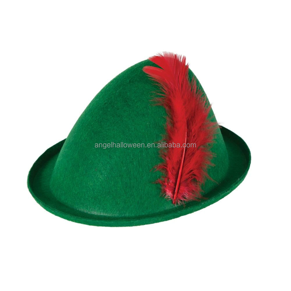 Green hot sale german oktoberfest hat mens bavarian hat OH6025