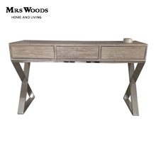 Mrs Woods Industrial With Metal Base Reclaimed Wood Console Cabinet