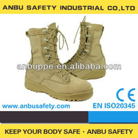 O-design cowhide leather with breathable vents combat boots