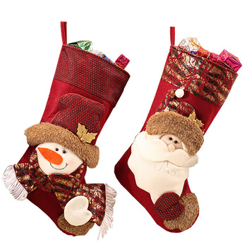Embroidered and promotionalchristmas stocking for christmas decor
