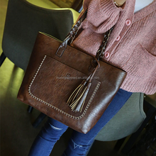 2017 Fashion Women Pu Leather Shoulder Bags With Tassel