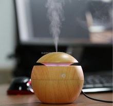 Mini Portable Mist Maker Aroma Essential Oil Diffuser Ultrasonic Aroma Humidifier Light Wooden USB Diffuser For Car Home Office