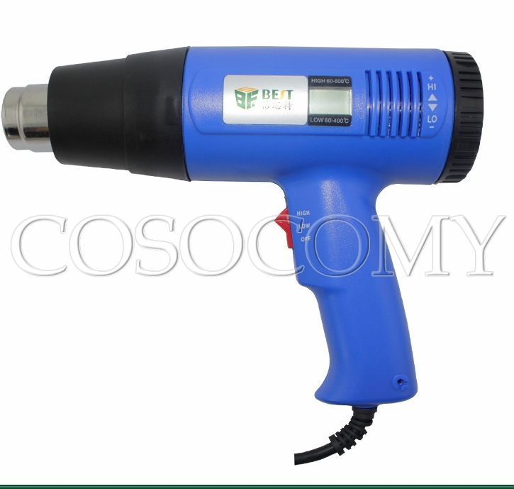 High quality BEST-8016 temperature digital LCD displayer handhold hot air gun