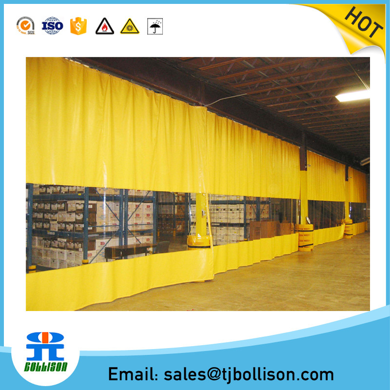 Temporary Warehouse/Workshop PVC Strip Industrial Side Curtains, Industrial PVC Wall Divider Curtains/Divider Room Curtain