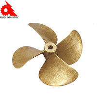 OEM high precision china 4 blade type marine ship boat cast bronze propeller