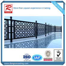Aluminum foundry supply customized aluminum balustrade railings and fence as drawings