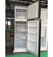 BCD-260BC 260L glass door fridge refrigerator, with outside evaportaor, gas used in compressor of refrigerator