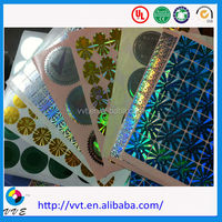China gold supplier custom laser 3D hologram sticker