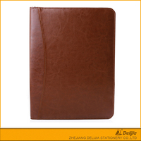 PU leather covers A5 portfolio style pocket notebook calculator