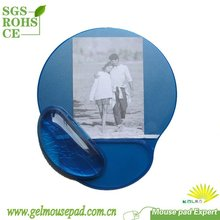 Office Depot Hot Seller-Transparent Gel Mouse Pad with wrist support