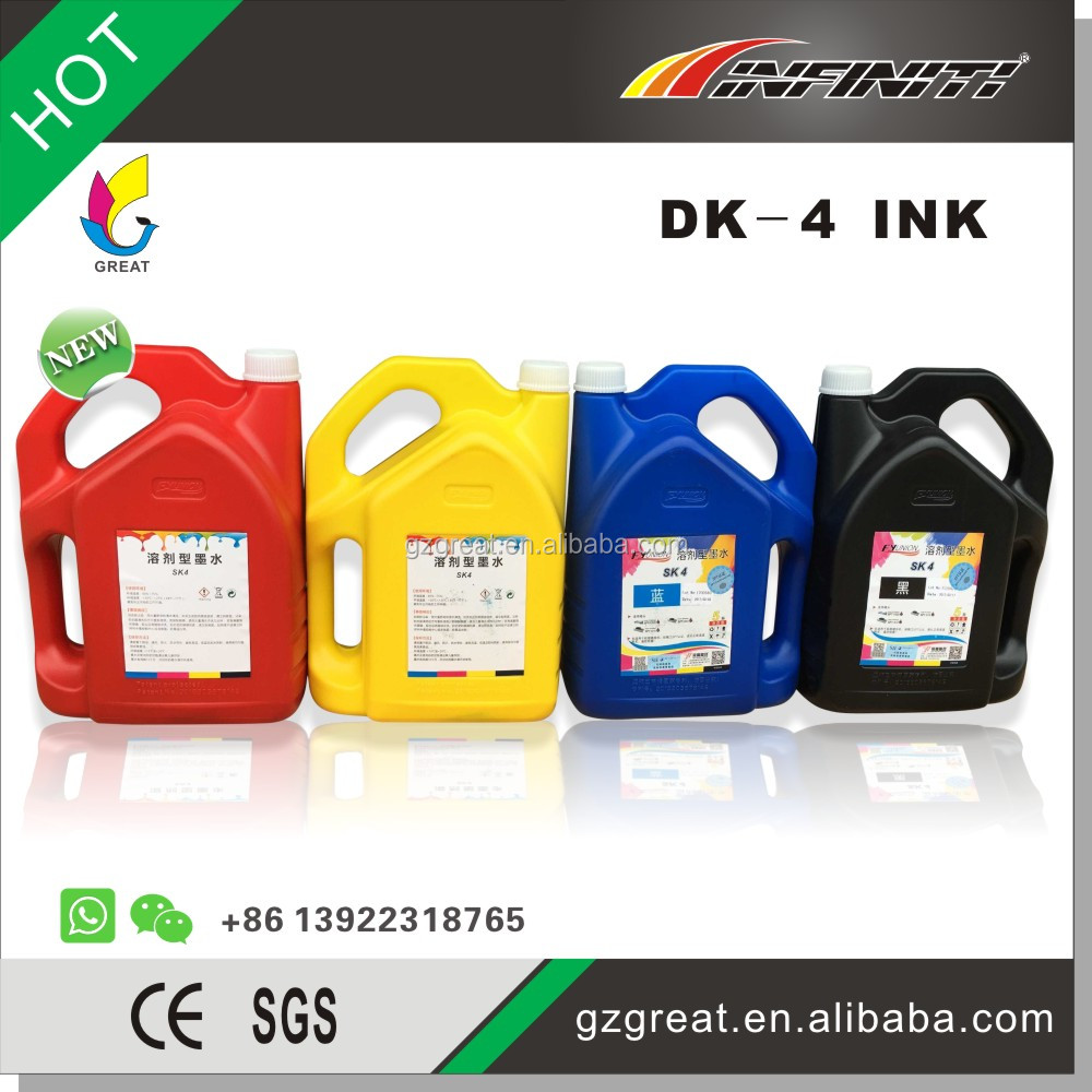 SK4 solvent waterproof inkjet printer ink for infiniti challenger