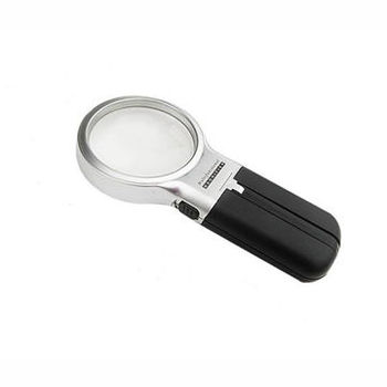 Foldable 3x Magnifying Glass with LED Illumination