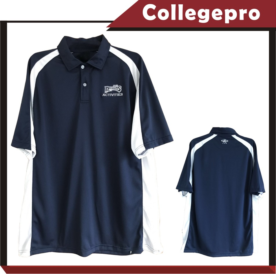 school student's training wear of sports polo shirt