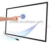 "2 points 55 inch touch IR multitouch lcd touch screen panel/ 55"" multi touchscreen frame overlay kit"