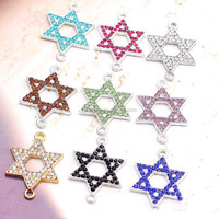 five-point star shape alloy witchcraft magic pendant